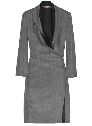 Wraparound dress gray
